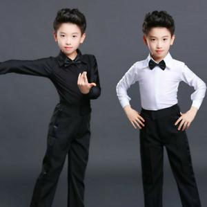 Boys-Dance-Shirt-Pants-Youth-Ballroom-Salsa-Samba-Smooth-Latin-Tango-Garment-Set