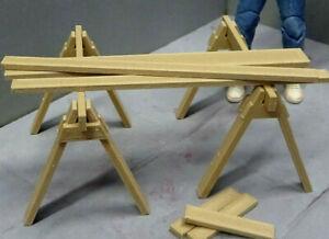 Sawhorse-Set-1-10-scale-Action-Figure-Garage-Diorama-dollhouse-Accessories