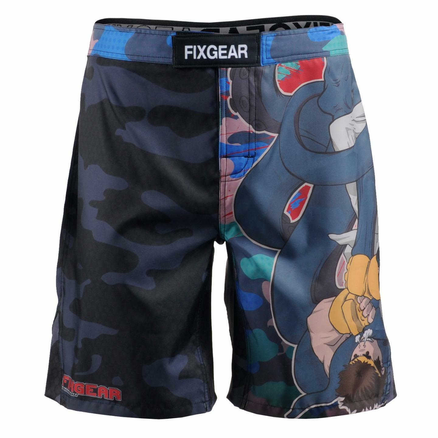 FIXGEAR FMS-H5 MMA Graphic Shorts for Men Workout Training Fitness