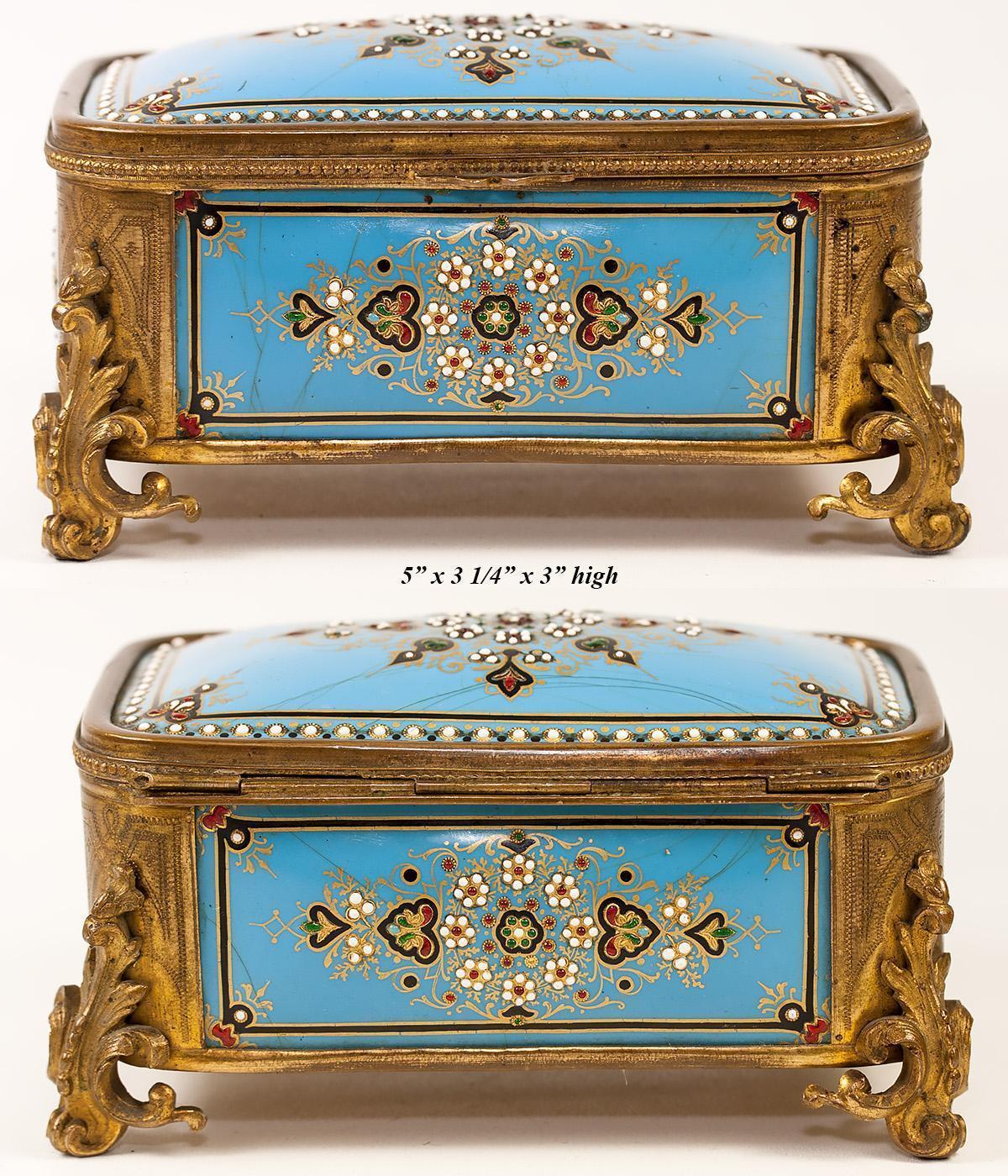 Tahan , Paris  Antico Bressan o Severs in Cotto Cotto Cotto Smalto Scatola Porta Gioielli, 2b78c0