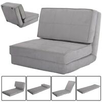 Fold Down Chair Flip Out Lounger Convertible Sleeper Bed Couch Dorm Guest