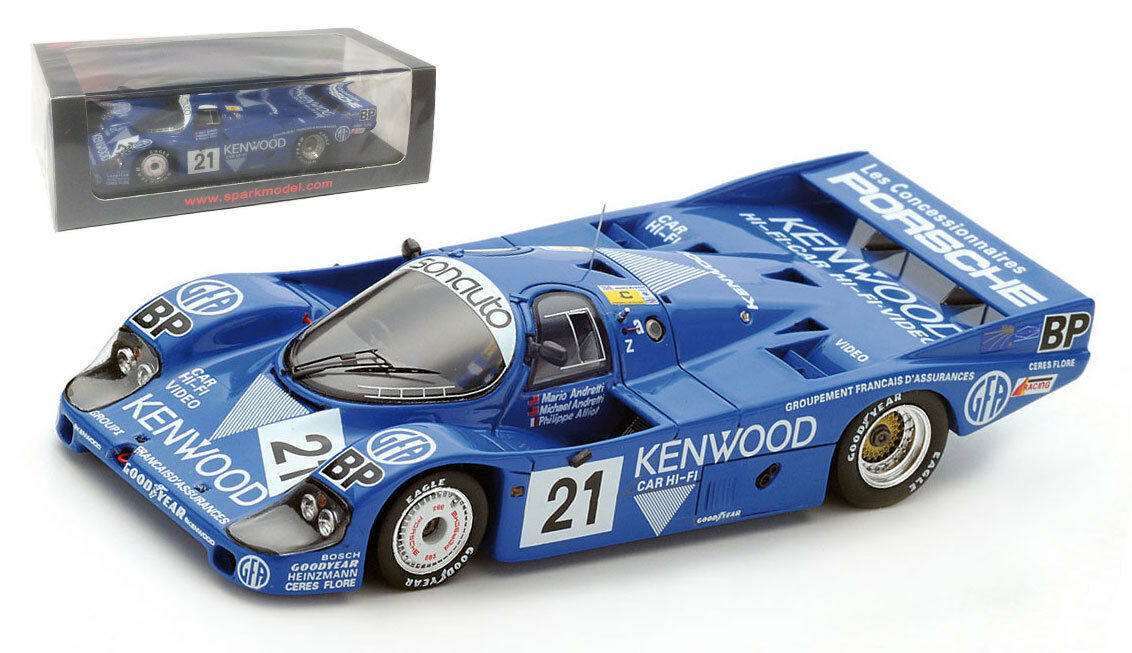 SPARK S5505 PORSCHE 956 3rd Le Mans 1983-Andretti Andretti Alliot échelle 1 43