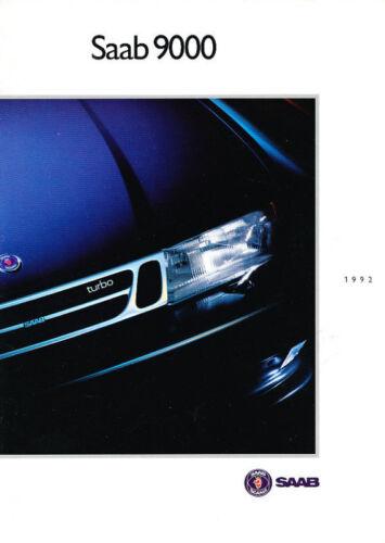 Turbo 9000CD 1992 Saab 9000 Original 40-page USA Car Sales Brochure
