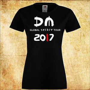 WOMEN//DAMEN T-SHIRT DEPECHE MODE GLOBAL SPIRIT TOUR /'17 11 ROCK BLACK TEE