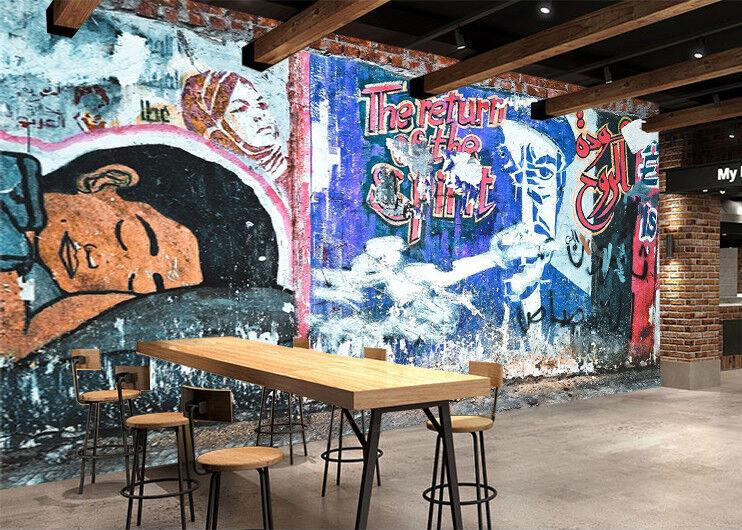 3D Graffiti Wand Kind 7983 Tapete Wandgemälde Tapeten Bild Familie DE Jenny