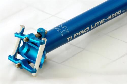 KCNC Ti Pro Scandium Seatpost Ti Bolts 27.2x400mm Blue