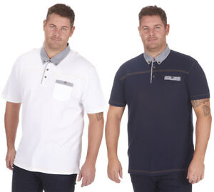 Mens-Plus-Big-Size-Pique-Polo-Shirt-T-Shirt-Top-Short-Sleeve-Casual-King-3XL-5XL
