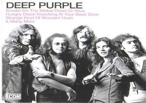 DEEP-PURPLE-2-FOTO-BANDA-DE-ROCK-estampado-Metal-negro-blanco-PORTADA-Musica