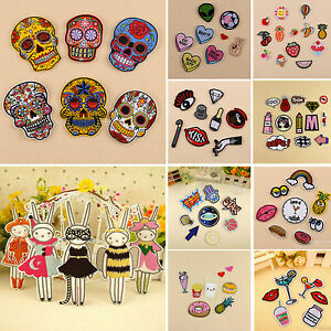 02a50cb7e2d8 Details about 1-13pcs/Set Cute Embroidery Sew On Iron On Patch Badge Fabric  Applique Bag Craft