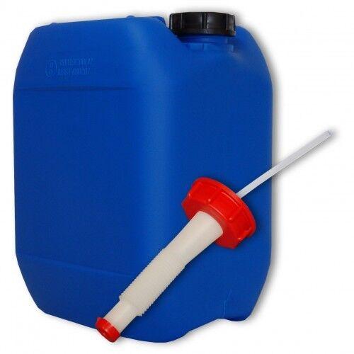 Bidon plastique bleu 10 L - DIN51 + 1 1 1 bec flexible, fb. Allemagne (22041+021) 1aaa0e