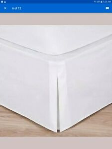"Magic Skirt Tailored Bedskirt Classic 14"" Drop Length Microfiber Magicskirt"