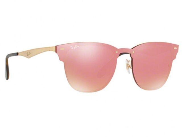 55578ac800 RAYBAN Blaze Clubmaster Sunglasses Rb3576n 043 71 Black Gold Green Club 3576