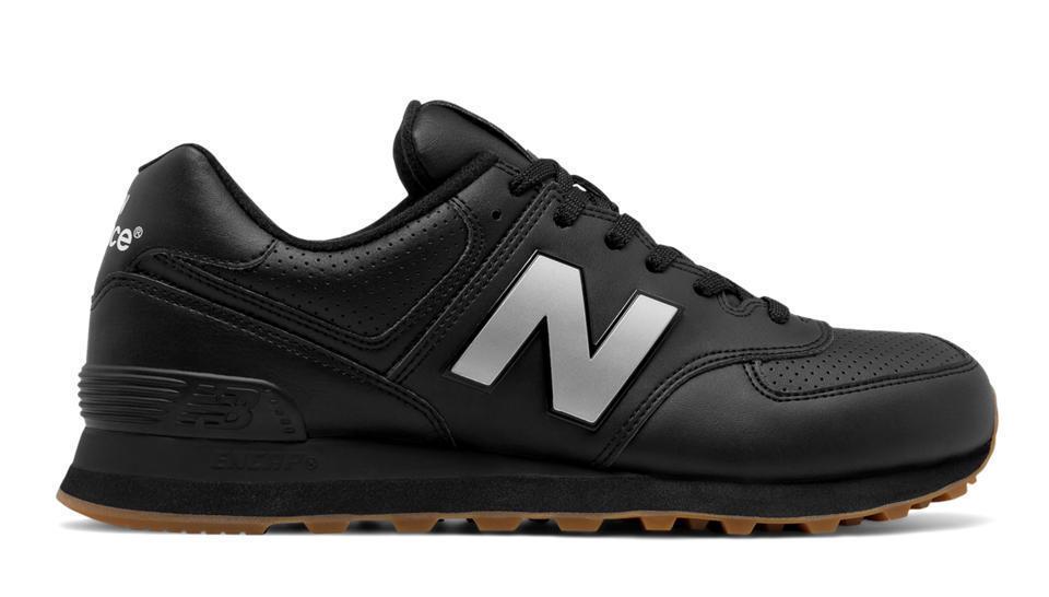 New Balance 574 Classic ML574LEB Black Leather Gum
