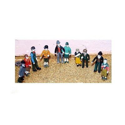 10 Standing Figures Of The 1920's (oo/ho Scale) - Unpainted - Langley F17
