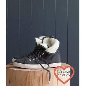 CR-LOVE-NEW-SZ-6-37-COUNTRY-ROAD-NIKO-FELT-SNEAKER-IN-CHARCOAL-no-box