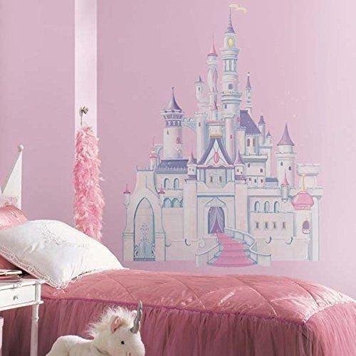 roommates rmk1546gm disney princess glitter castle peel & stick