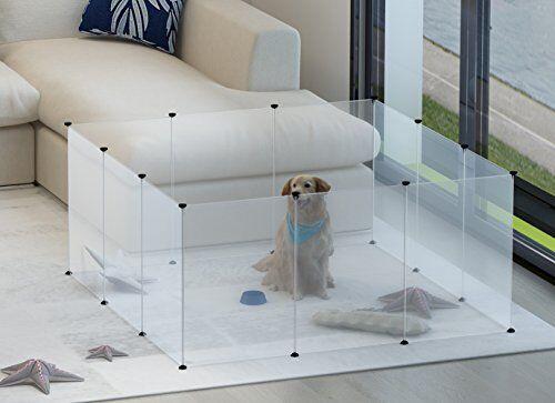 40'' 12 Panel Large Foldding Pet Playpen Dog Exercise Pen Ca