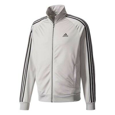 NEW ADIDAS MEN'S ESSENTIALS 3 STRIPES TRICOT TRACK JACKET~ LARGE #BS2226 GREY | eBay