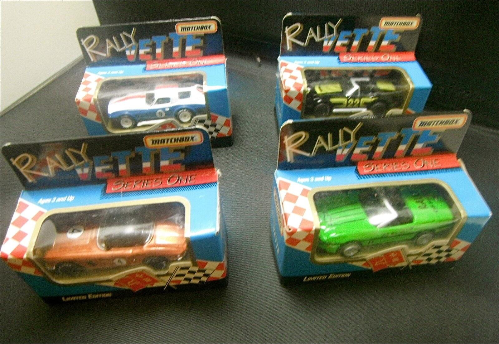 orden en línea 1992 Matchbox Series One Rally Corvette Set de cuatro cuatro cuatro (4) Sellado  la red entera más baja
