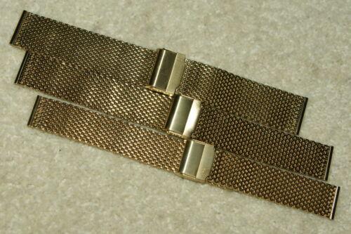 24mm Gratuit Acier Inoxydable or Requin Maille Cotte de Bracelet Montre 18mm