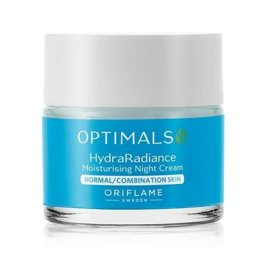 New Oriflame Optimals Hydra Radiance Night Cream for Normal/Combination Skin