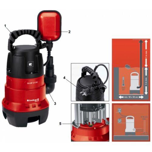 Pompa Sommersa acque sporche con interruttore a galleggiante 370 Watt 9.000 L//H