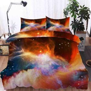 Orange Blend Line 3D Printing Duvet Quilt Doona Covers Pillow Case Bedding Sets
