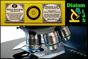 Diatom Test Slide Version 2.0 By Diatom Lab: Innovative Test Microscope Slide
