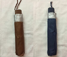 KING FISH Men's 3fold Umbrella Brown & Dark Blue Color Combo with Free Shipping