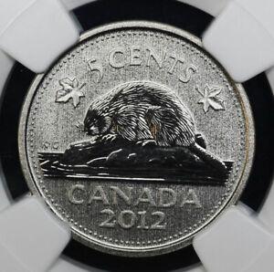 Canada-5c-Cents-Nickel-2012-PR69-NGC-Specimen-SP69-Reverse-Proof-Matte-Beauty-5c