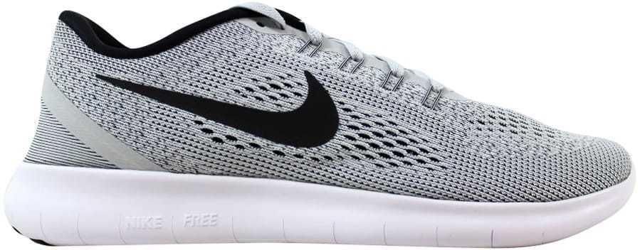 Nike Free RN blanc/noir-Pure Platinum 831508-101 homme SZ 15