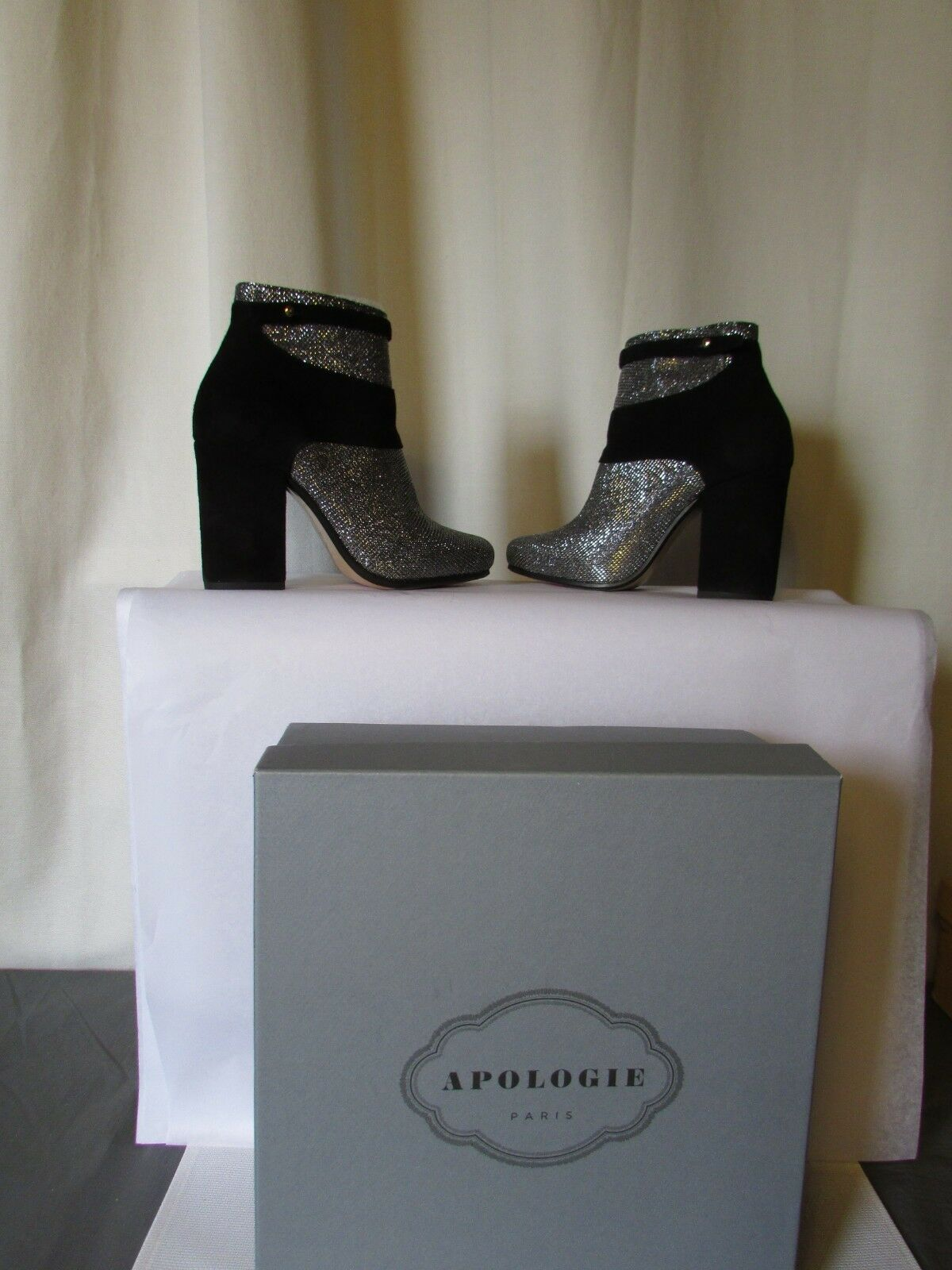 bottines apologie the prince paillettes serpent pointure 36