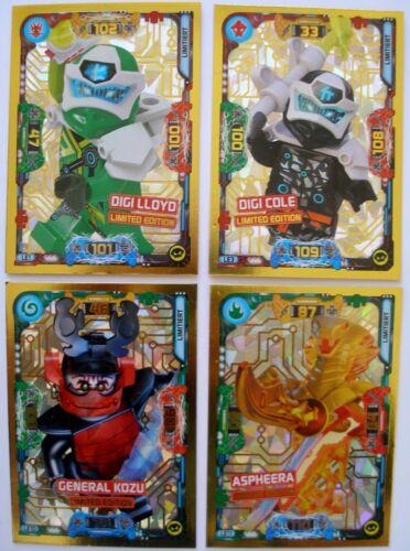 Lego Ninjago Serie 5 TCG 4 x  LE 1 Lloyd LE 3 Cole LE 10 Kozu LE 11 Aspheera