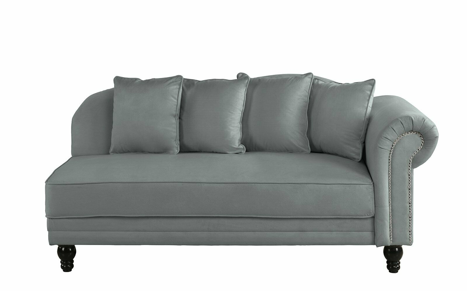 - Dark Grey Contemporary Velvet Fabric 55.9