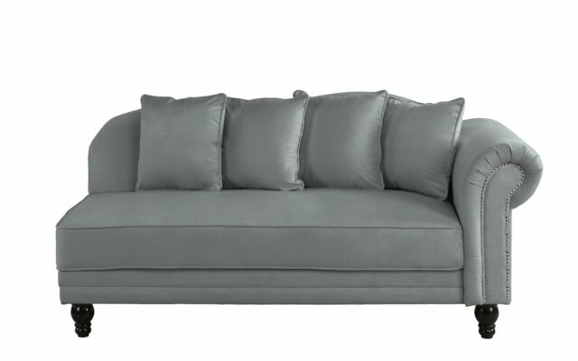 Pleasant Large Classic Velvet Fabric Living Room Chaise Lounge Nailhead Trim Dark Grey Creativecarmelina Interior Chair Design Creativecarmelinacom