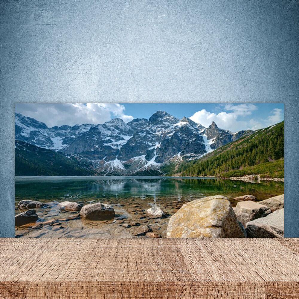Crédence de verre cuisine en verre de Panneau Paroi 100x50 Paysage Forêt Montagnes 73307b