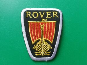 MOTOR RACING CAR SPEED FESTIVAL SEW ON / IRON ON PATCH:- ROVER (a) VIKING SHIP