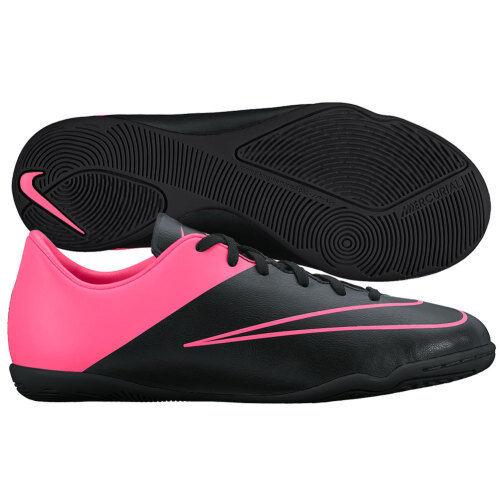 Nike Mercurial Victory IV IC Indoor Soccer Shoes 2015 Black / Pink Kids  Youth Jr
