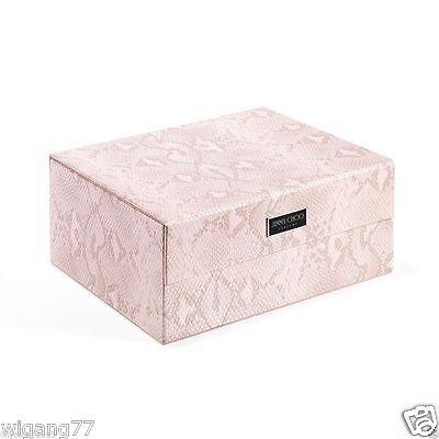 JIMMY CHOO PARFUMS Rosa piel de serpiente Caja de zapato/Cosméticos/Estuche De Maquillaje Vanidad/