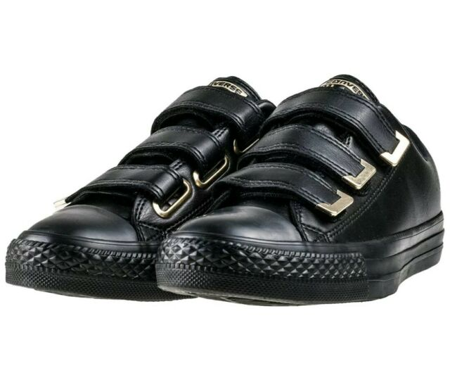 Womens Size 7 Converse Chuck Taylor All Star 3v Ox Black Gold Fashion Sneakers