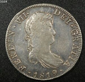 "1819 Mo/JJ *Silver* Mexico 8 Reales ""XF+"" *Free S/H After 1st Item*"