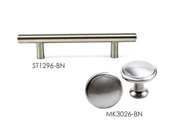 And Bar Pull In Brushed Nickel For Kitchen Bathroom Cabinet Hardware By Kpt