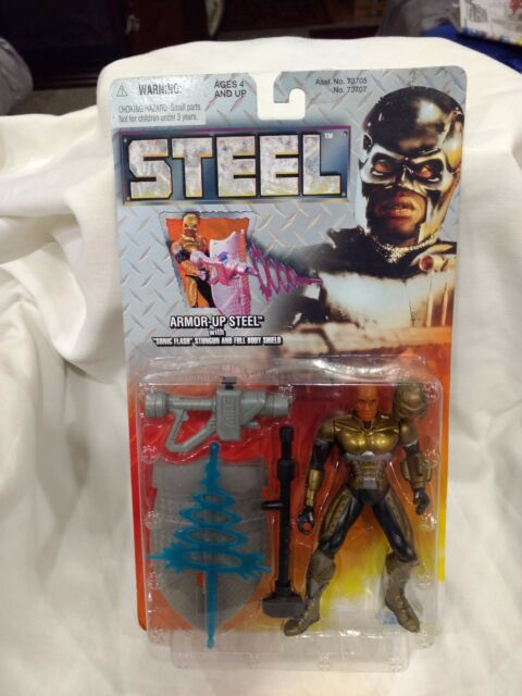 Rare Steel Armor Up Steel Action Figure From Kenner By Hasbro 1997 NEW t1292