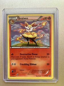 Pokemon-BRAIXEN-Tarjeta-Negra-Star-Promo-Set-XY161-evoluciones-Blister-Holo-Trading-Card-Game-Casi