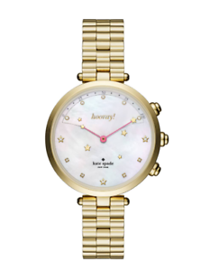 Kate-Spade-New-York-Women-039-s-Gold-Holland-Hybrid-Bracelet-Watch-0808