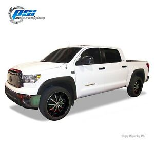 Black Textured Oe Style Fender Flares Toyota Tundra 07 13 Fits W Factory Flaps Ebay
