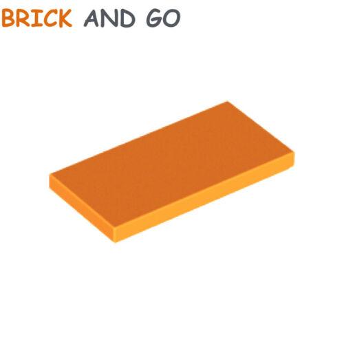 4 x LEGO 87079 Plaque Lisse (bright orange) Plate Tile 2x4 NEUF NEW