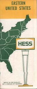 Details about 1963 Hess Road Map: Eastern United States NOS