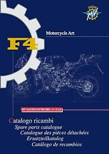 MV Agusta Parts Manual Book Catalog 2000 F4 750 ORO, 750 S & 750 S1+1