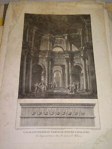CASSAS-1756-1827-GRANDE-GRAVURE-XVIII-TEMPLE-JUPITER-SPLIT-CROATIA-GRECS-1798c